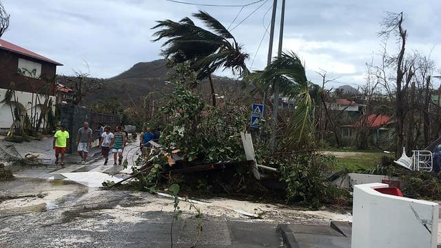 El paso de Irma en Saint Barth