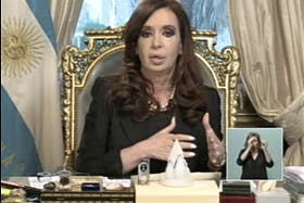 Cristina Kirchner, presidenta de la República Argentina