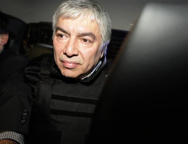 Lázaro Báez, detenido en Ezeiza en el marco de la causa por lavado