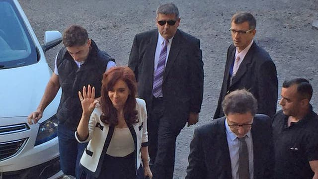 Así llegaba Cristina a los tribunales