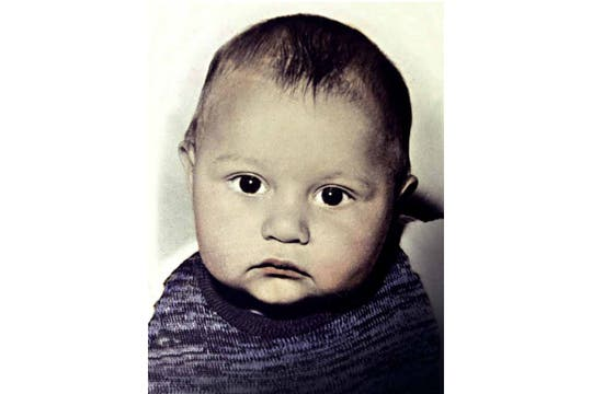 Jorge Mangeri, de bebe. Foto: Gentileza revista Gente