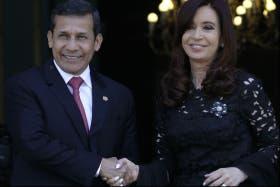 La presidenta Cristina Kirchner recibió a su par de Perú