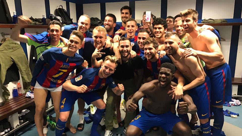El festejo y el detalle de Messi con el celular