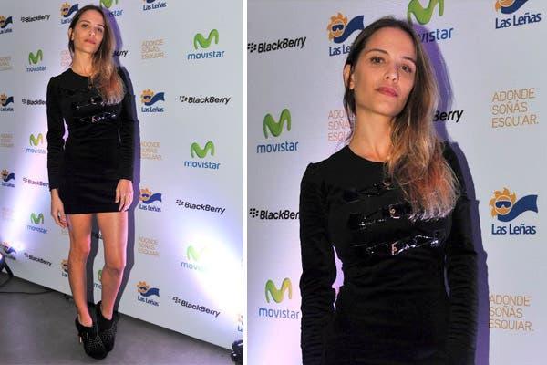 La modelo Ivana Figueiras asistió al lanzamiento de temporada de Las Leñas con un mini vestido negro al cuerpo y booties bien altas. Qué frío para Las Leñas, ¿no?. Foto: Mauro y Estomba