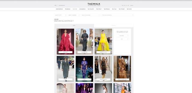 Tagwalk es el buscador de pasarelas y tendencias que creó la parisina Alexandra van Houtte