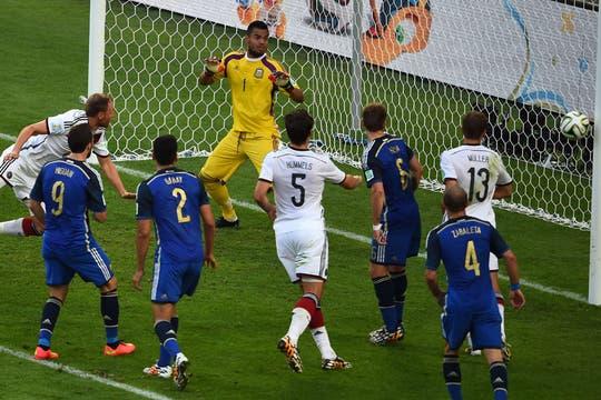 Götze hace un golazo en el alargue. Foto: AFP
