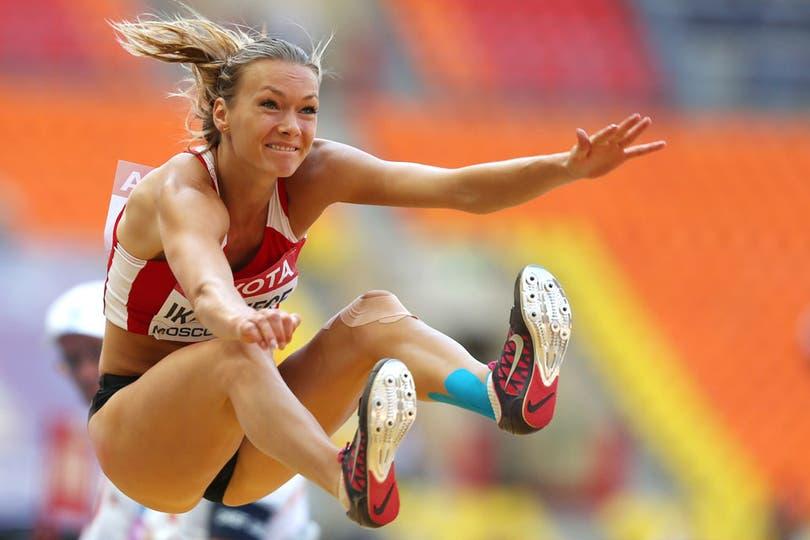 La letona tiene 21 años y compite en el heptatlón.  Fue dos veces campeona mundial juvenil y dos europea, en la misma categoría. Su primera participación olímpica fue en Londres 2012. Foto: AFP