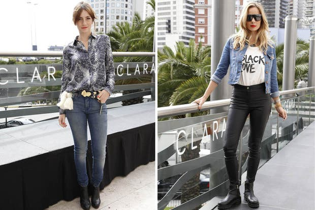 Julieta Zylberberg y Julieta Cardinali, en el lanzamiento de la nueva colección de la firma Clara. ¿Qué estilo te gusta más para combinar una prenda de jean?. Foto: Mass PR