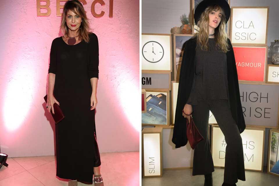 Karina Mazzoco hizo un alto en la presentacion de Becci, mientras que Naomi Naomi Preizler, con total look de la marca, dijo presente en la presentación de Florecer la colección de invierno de Yagmour.