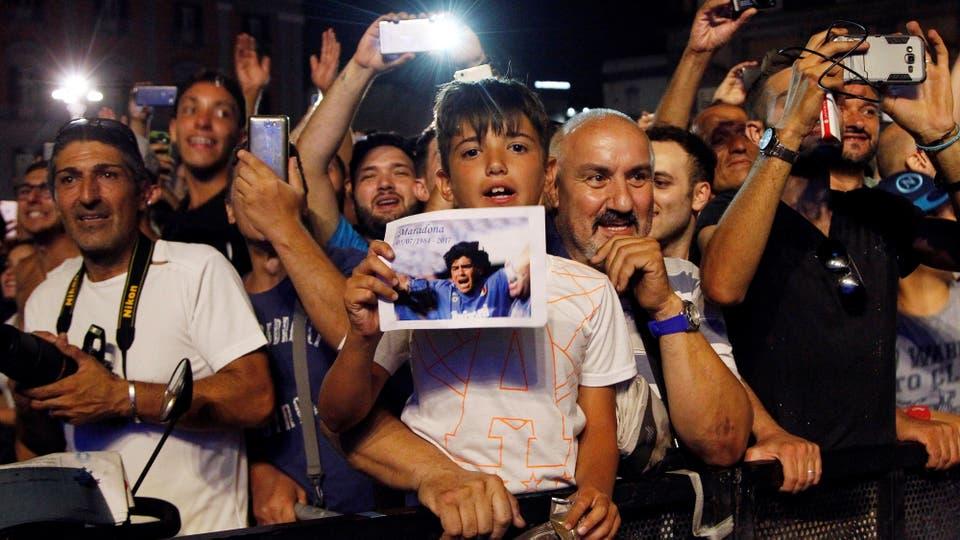 Show en la Plaza Plebiscito para celebrar la entrega de una ciudadanía honorífica. Foto: AFP / Carlo Hermann