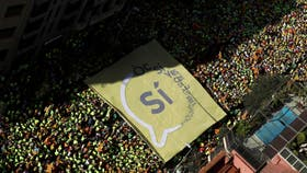 Masiva marcha en Catalunya en apoyo al referéndum soberanista