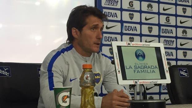 Guillermo Barros Schelotto no confirmó el equipo, pero dijo que no contará con Centurión, lesionado