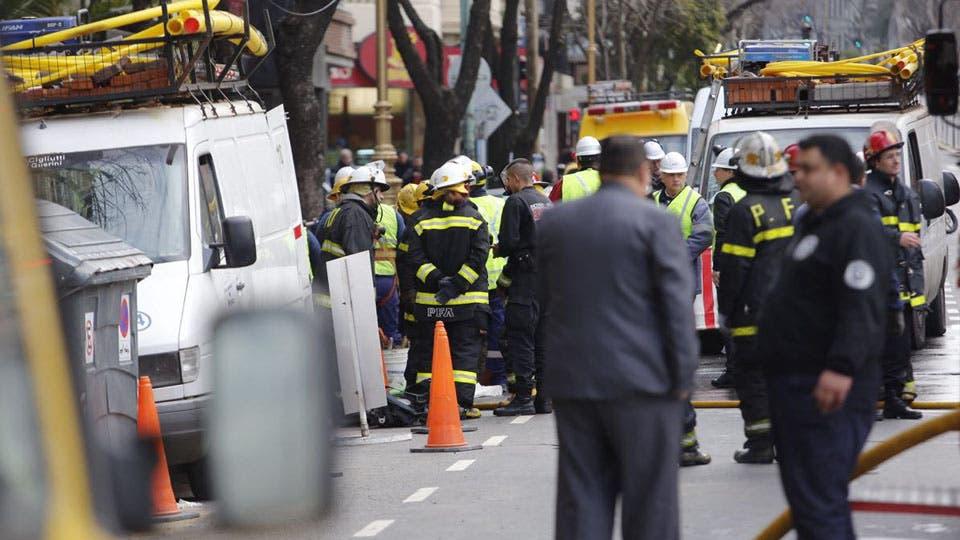 Escape de gas en Barracas: murió un operario y hay varias personas hospitalizadas. Foto: LA NACION / Fernando Massobrio
