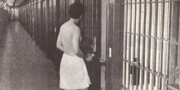 Sergio, antes de ingresar en su celda