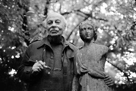 Ernesto Sabato en su casa de Santos Lugares. Foto: Archivo