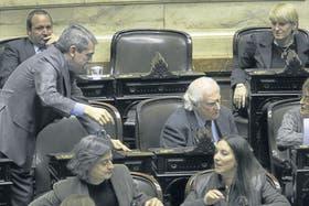 Fernández y Solanas en la Cámara baja, en 2010: las acusaciones cruzadas terminaron en querella