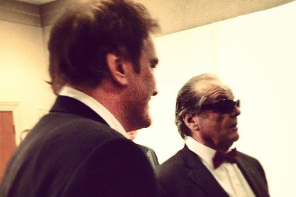 Quentin Tarantino y Jack Nicholson en el backstage. Foto: /Instagram