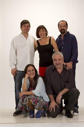 Caniglia, Gambartes, Suárez (arriba), Calvo y Vila