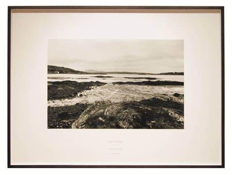 Half-Tide. Bertraghboy Bay Ireland, 1971. Foto: Cortesía Richard Long