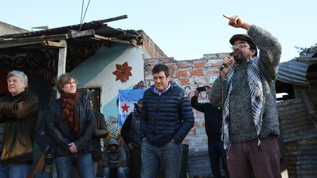 Fernando Esteche en el acto junto a Mariotto y Boudou