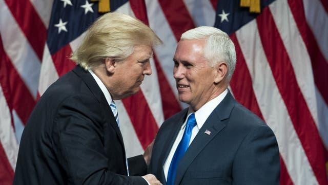 Trump y Pence durante la campaña