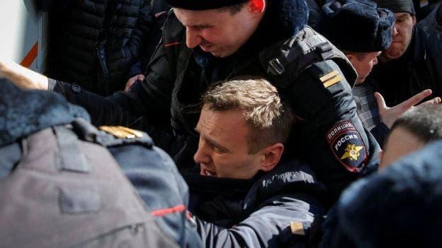 Navalny ha expresado su oposición al gobierno públicamente y ha sido detenido en varias oportunidades