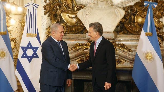 Netanyahu y Macri firmarán convenios bilaterales y compartirán un almuerzo