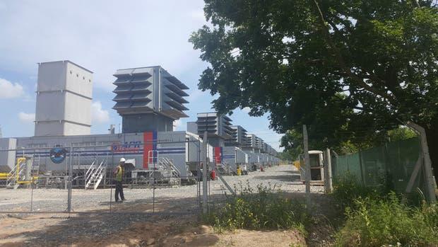 Una de las plantas termoeléctricas instaladas en Pilar