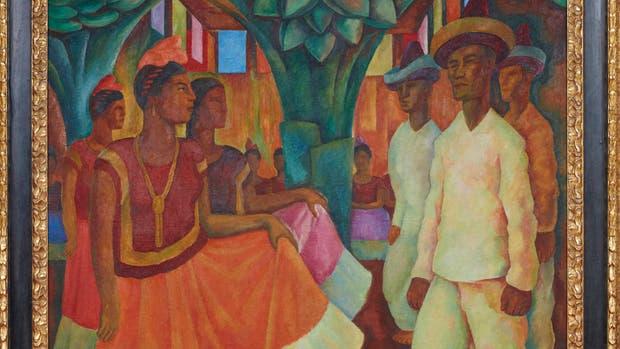 Baile de Tehuantepec, 1928. De Diego Rivera (México 1886-1957). Óleo sobre lienzo de 2,007 metros de alto por 1,63 de ancho, fue adquirido por 15,7 millones de dólares este mes