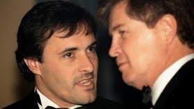 """""""Corcho"""" Rodríguez durante una fiesta de Fundaleu en el Hotel Alvear el 5 de octubre de 1998."""