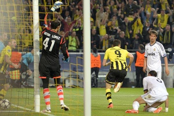 Borussia goleó a Real Madrid por 4 a 1. Foto: AFP