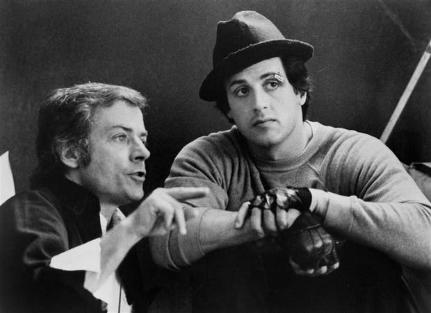 El director con Stallone como Rocky Balboa
