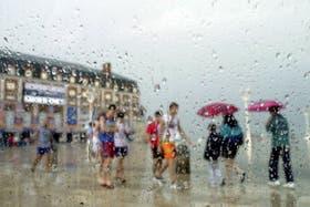 Fuerte tormenta en Mar del Plata