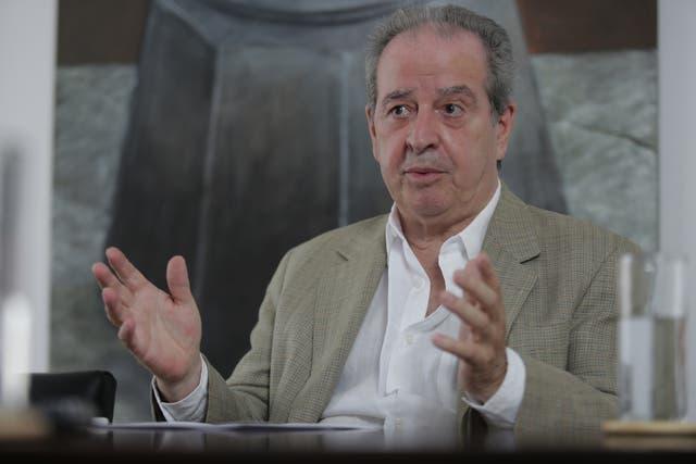 José Luis Machinea durante la entrevista con LA NACION