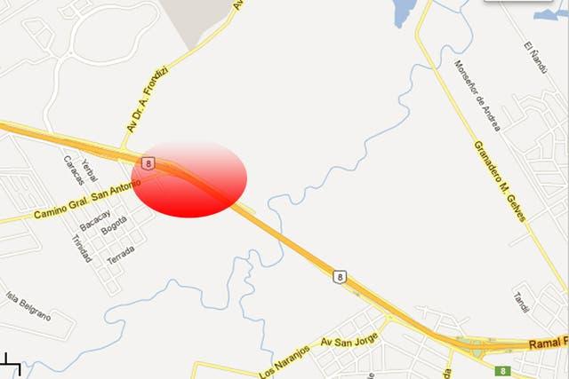 Impresionante choque en la ruta 8 a la altura del kilómetro 59, en Pilar