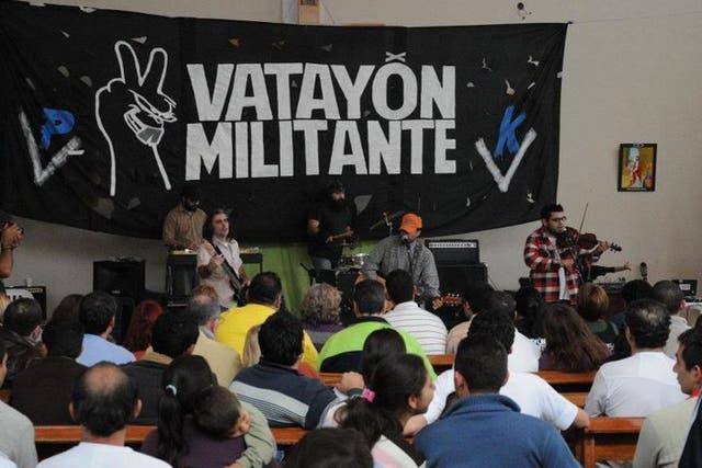 Un concierto del grupo kirchnerista Vatayón Militante