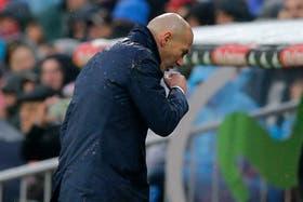 El lamento de Zidane tras la caída