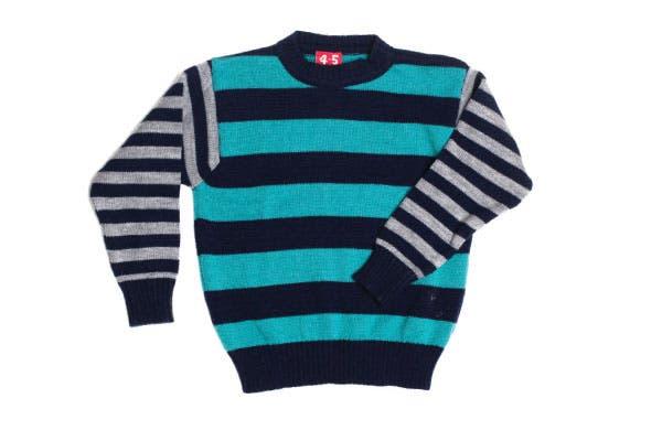 Suéter combinado (Grisino, $249).