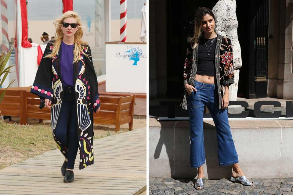 Los abrgiso bordados se vienen a full para la nueva temporada; Esmeralda Mitre y Cintia Garrido son la prueba de este ítem de moda que se las trae. Foto: OHLALÁ! /Gentileza prensa