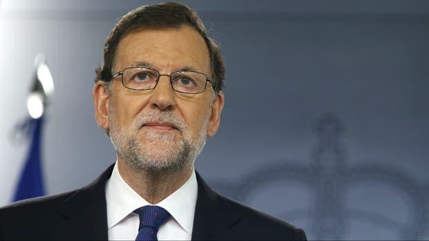 El presidente español, Mariano Rajoy, advirtió a los independentistas desde el Palacio de la Moncloa