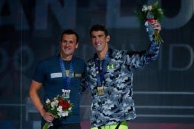 Los dos astros estadounidenses de la natación