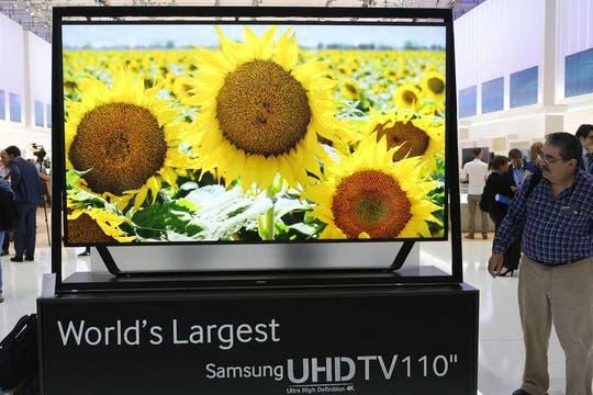 El Samsung UHD de 110 pulgadas, presente en la IFA. Foto: Reuters