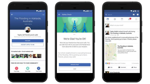 Facebook presenta 4 novedades en Safety Check