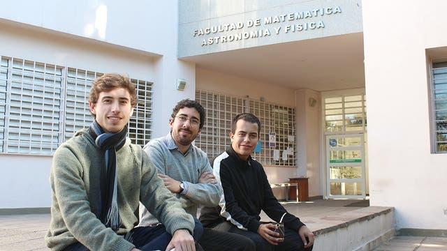 De izquierda a derecha: Martín Rodríguez, Luis Ferroni y Matías Hunicken