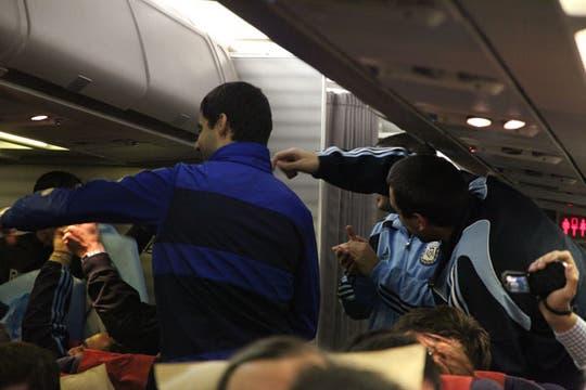 Integrantes de La 12 viajaron a Sudáfrica con enviados de La Nación y canchallena.com. Foto: Alejandro Di Ciocchis