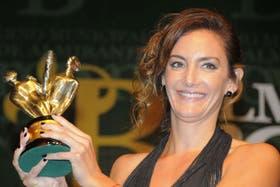 Luciana Aymar fue la gran ganadora de la noche con los Olimpias de Plata, de Oro y del Bicentenario