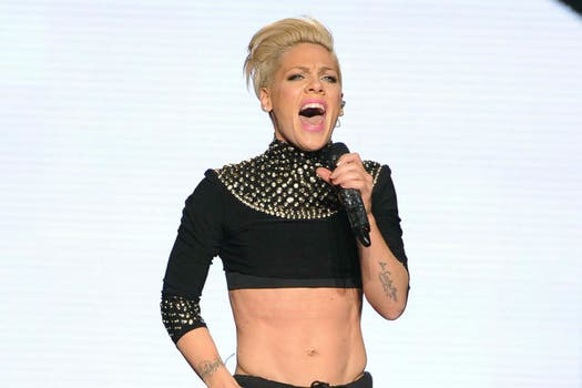 10. Pink, cantante. Foto: AP