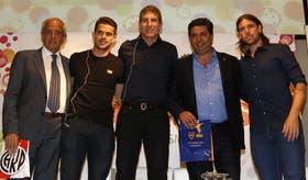 River y Boca, juntos: D''Onofrio, Gago, Palermo, Angelici y Cavenaghi compartieron una tarde futbolera