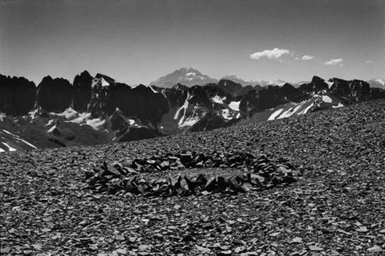 Aconcagua Circle. Argentina, 2012. Foto: Cortesía Richard Long