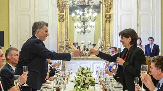 El presidente ofreció este mediodía un almuerzo en la Casa Rosada en honor a su par de Suiza, Doris Leuthard
